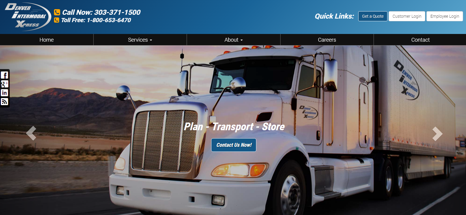 New Website Launched: Denver Intermodal Xpress