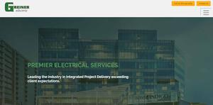 Greiner Electric Website Design Denver