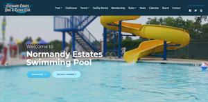 Pool and Tennis Club website design denver
