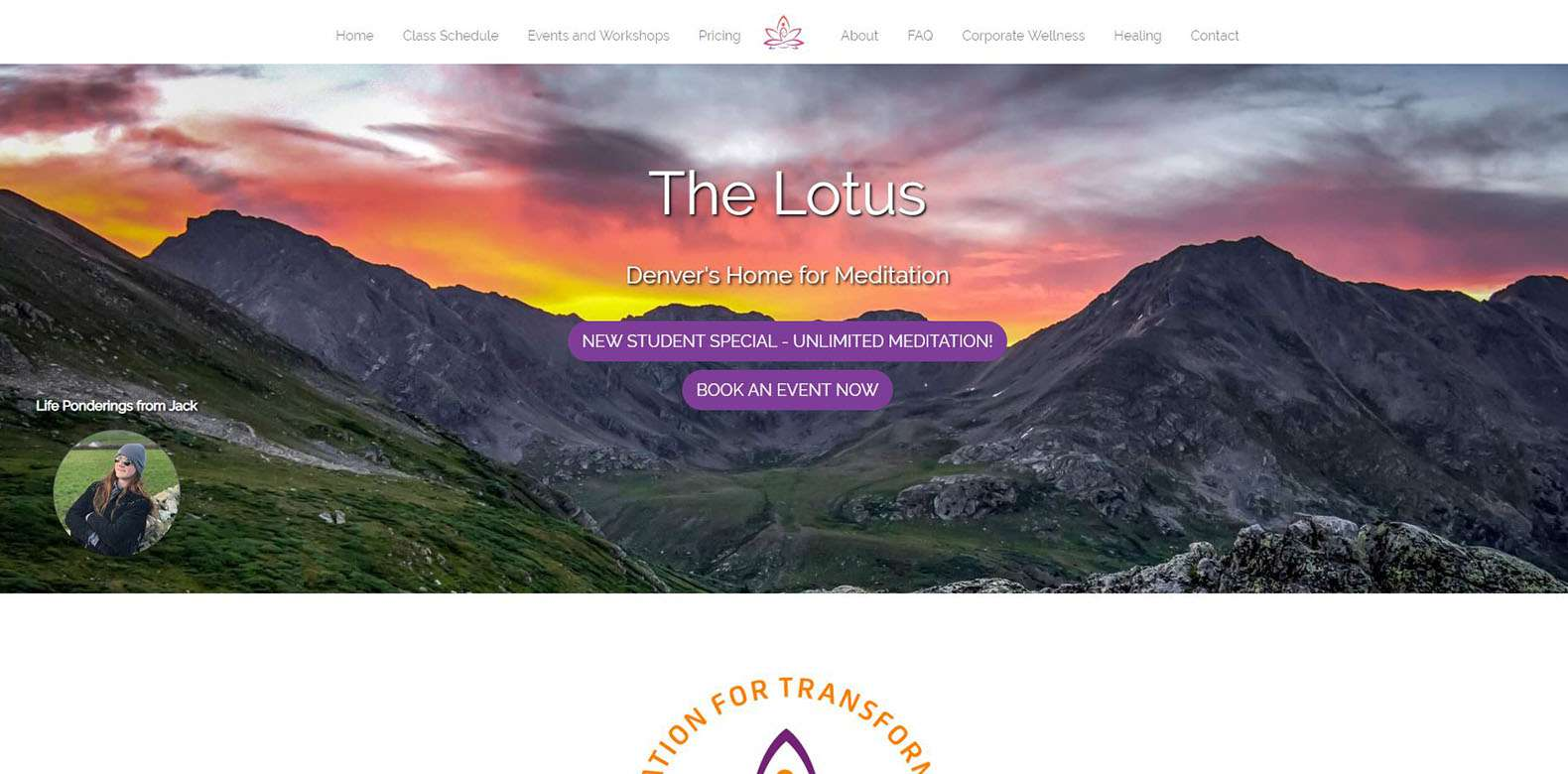 New Website Launch: The Lotus Meditation