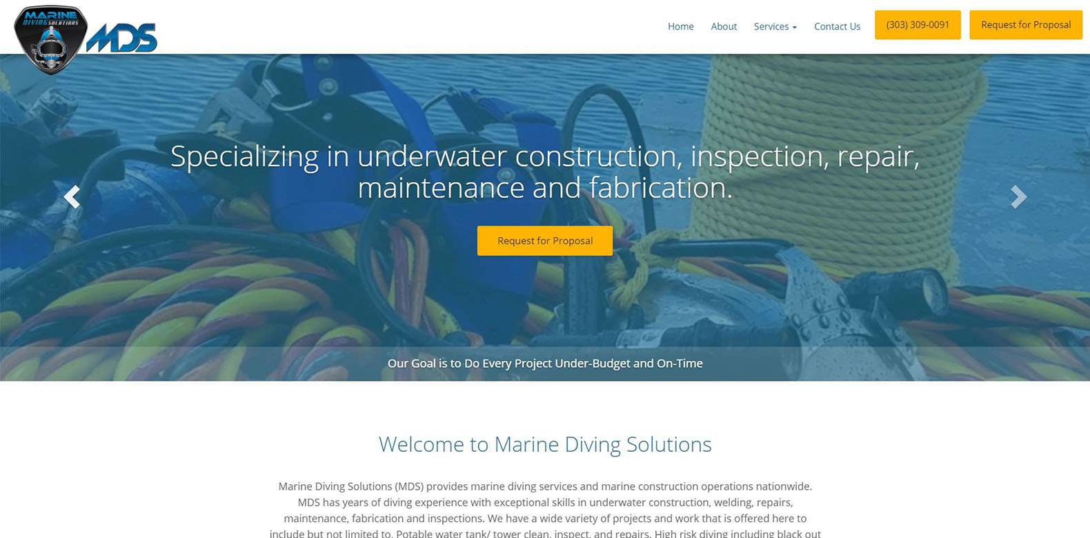 New Website Launch: Marine Diving Solutions