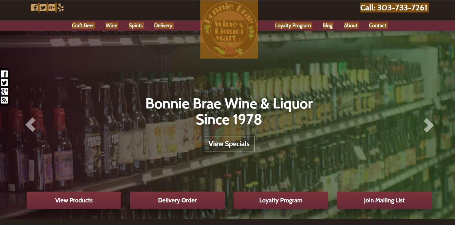 New Website Launched: Bonnie Brae Wine & Liquor
