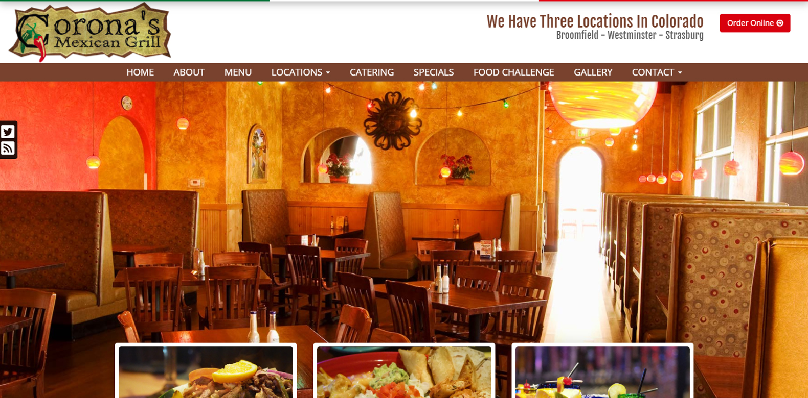 New Website Launch: Corona's Mexican Grill