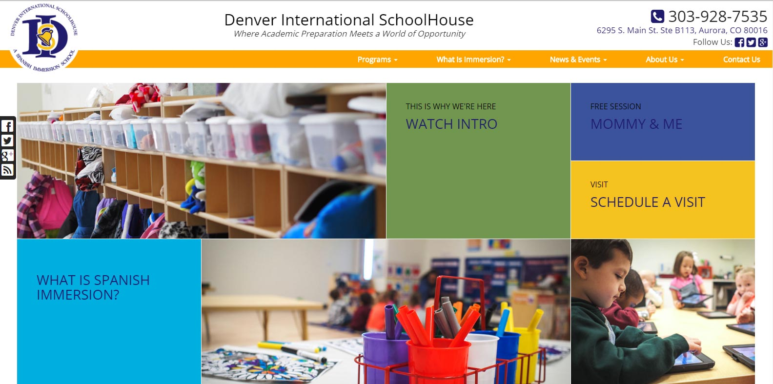 New Website Launched: Denver International Schoolhouse