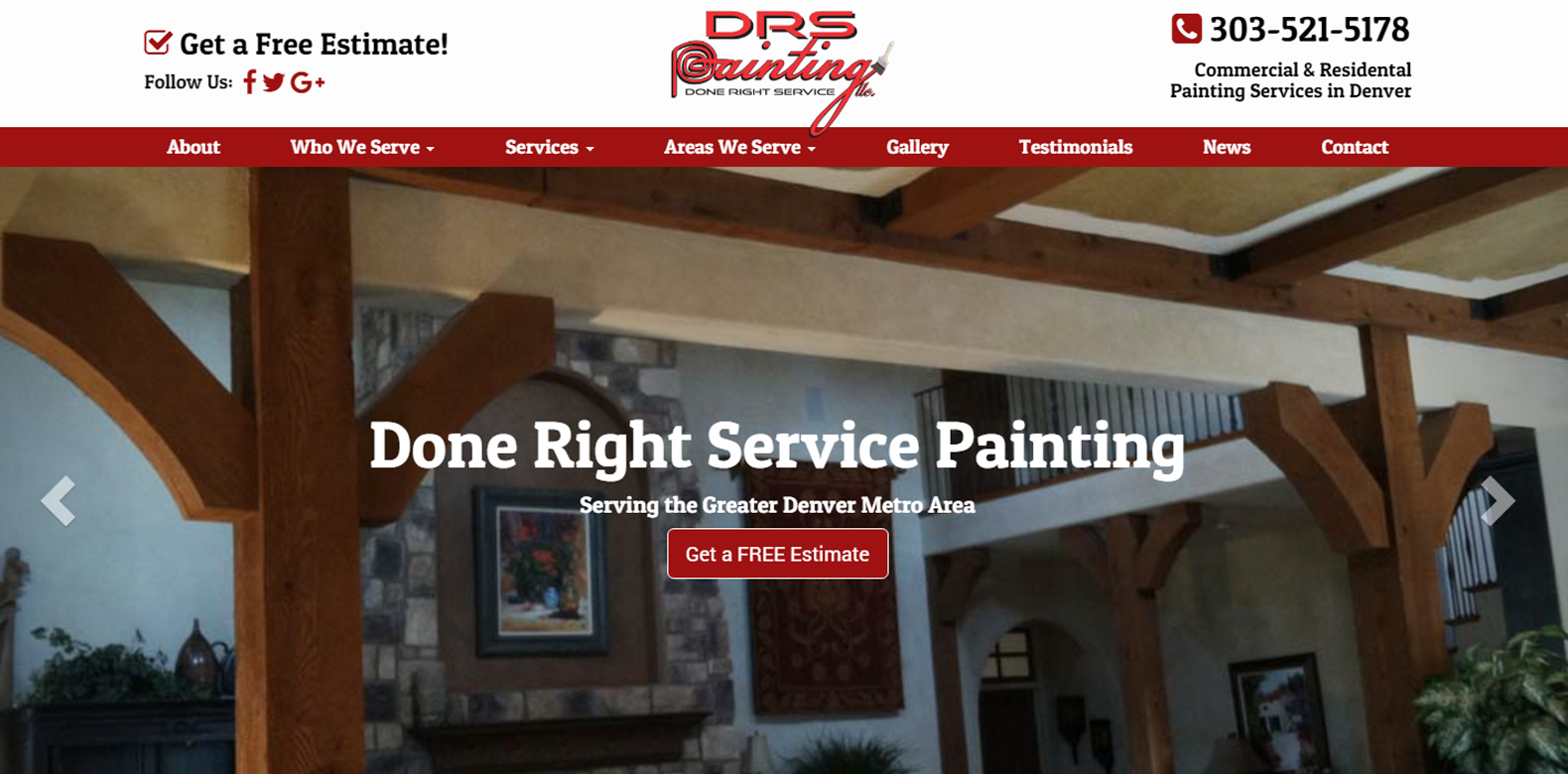 New Website Launch: Done Right Service Painting