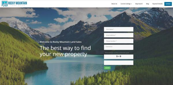 New Website Launch: Rocky Mountain Land Sales