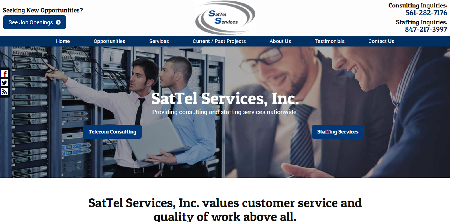 New Website Launch: SatTel Services