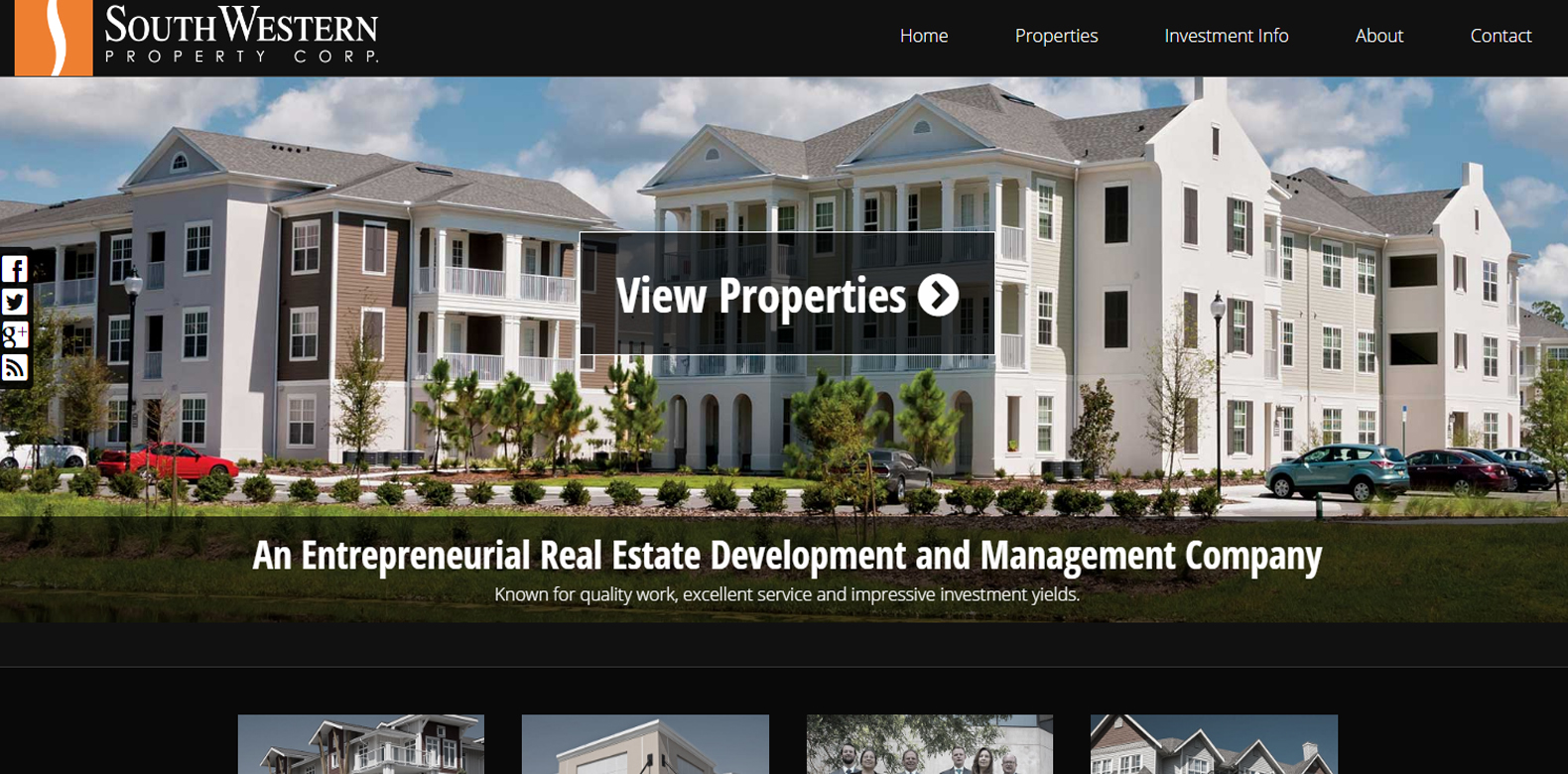 New Website Launch: SouthWestern Property Corp.