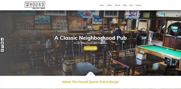 New Website Launch: The Hound Sports Pub + Burger