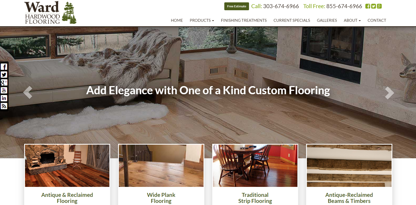 New Upgrade Launched: Ward Hardwood Flooring