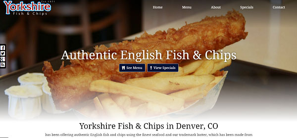 New Website Upgrade: Yorkshire Fish & Chips