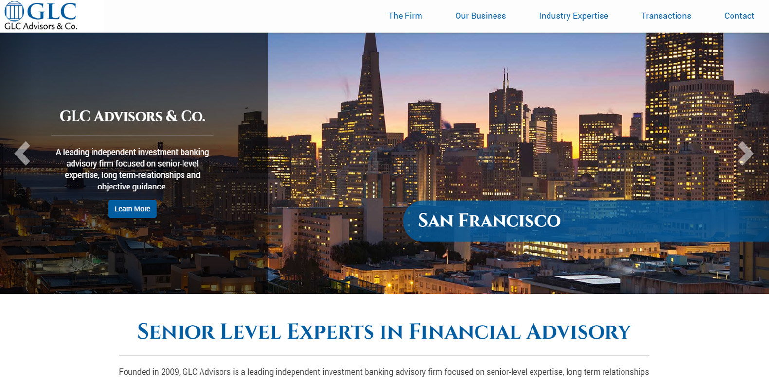 New Website Launch: GLC Advisors & Co.