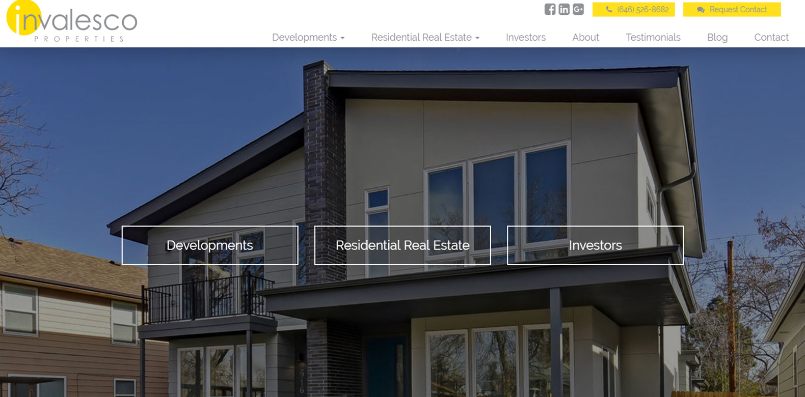 New Website Launch: Invalesco Properties