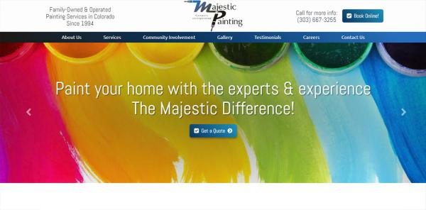 New Website Launch: Majestic Painting