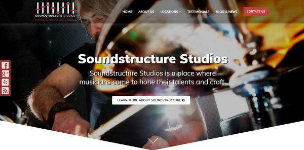 New Website Launch: Soundstructure Studios