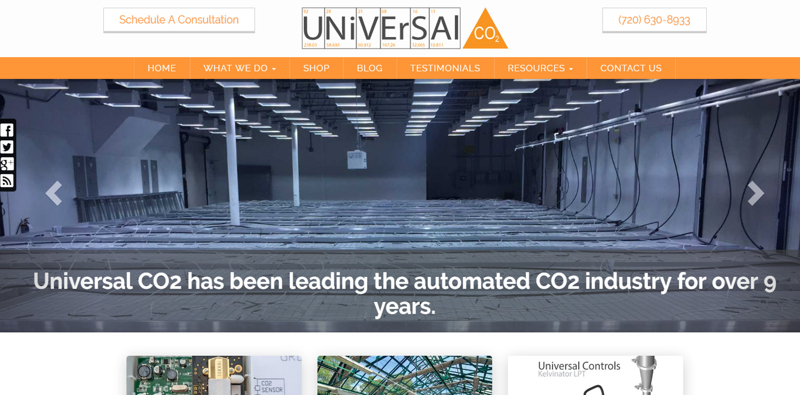 New Website Launch: Universal CO2